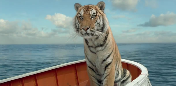 life of pi richard parker and Watch video title: life of pi (2012) 79  pi survives in a lifeboat with a zebra, an orangutan, a hyena and a male bengal tiger nicknamed richard parker.