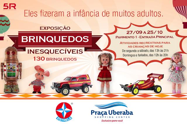 Feira de Brinquedos Estrelas no Praça Uberaba Shopping, por Mineira sem Freio
