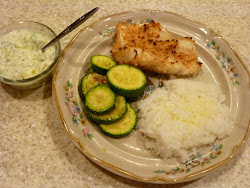 Crispy Fish Dinner with Sauteed Zucchini
