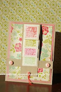 waterfall card, stampin up, handmade card