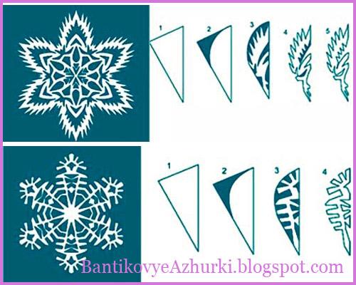 Идеи для снежинок схемы