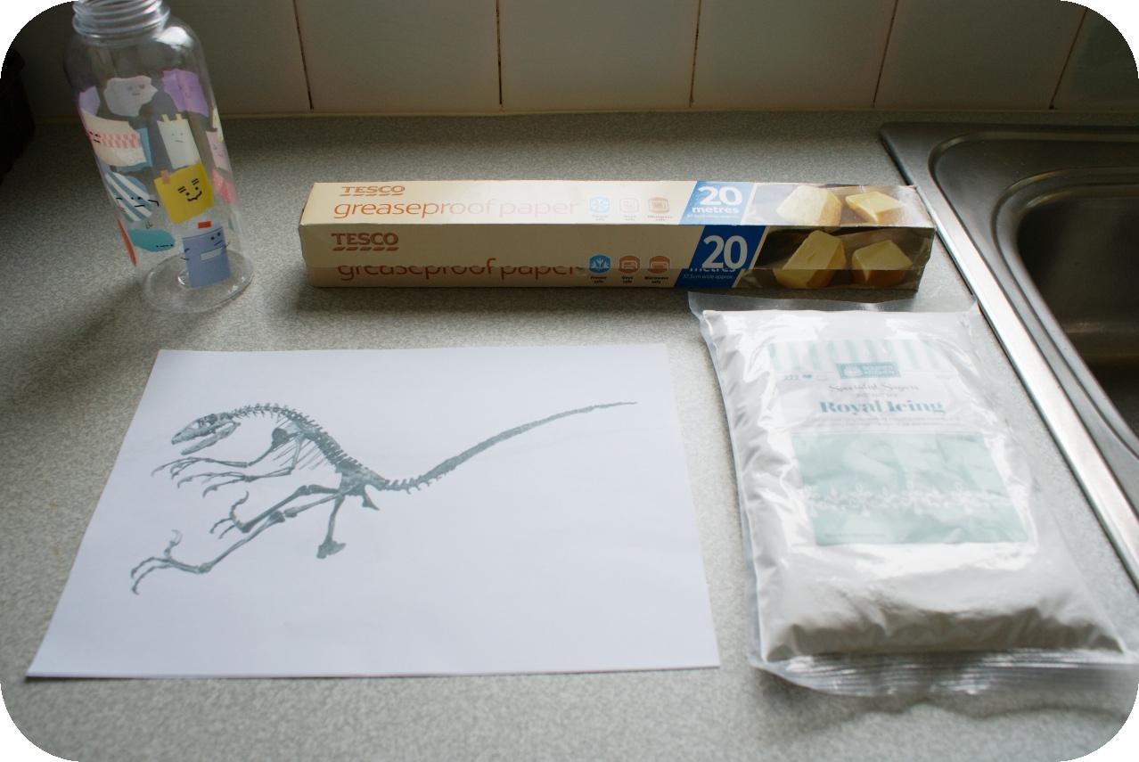 Dinosaur Dig Fossil Bone Bed Cake Tutorial | A Blackbird\'s Epiphany ...