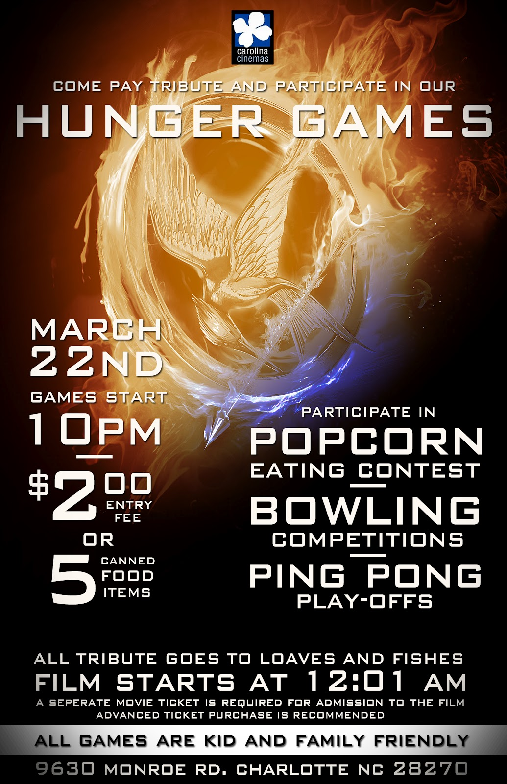 39 the hunger games 39 buzz see 39 hunger games 39 fight hunger for Loaves and fishes charlotte nc