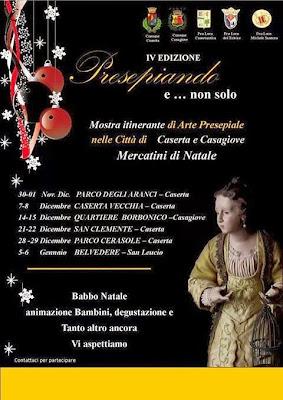 Mostra presepiale e Mercatini Natalizi a Caserta e Casagiove 2013-2014