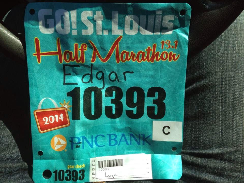 Edgar Hernandez half marathon bib