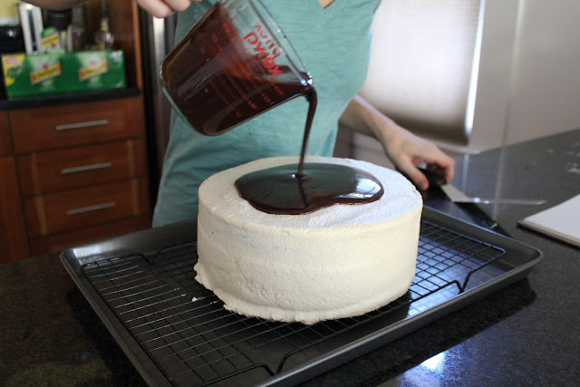 Chocolate-coffee layer cake