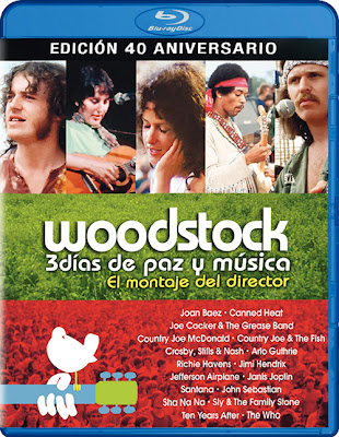 Woodstock 3 Days Of Peace And Music The Director's Cut '70 (2009) 720p BRRip 3GB mkv 5.1 ch subs español