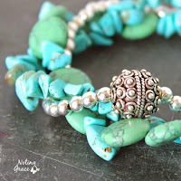 HANDMADE TURQUOISE AND SILVER BRACELET FROM NOTING GRACE