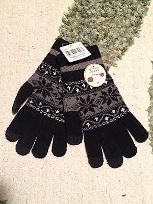 雪柄スマホ用手袋