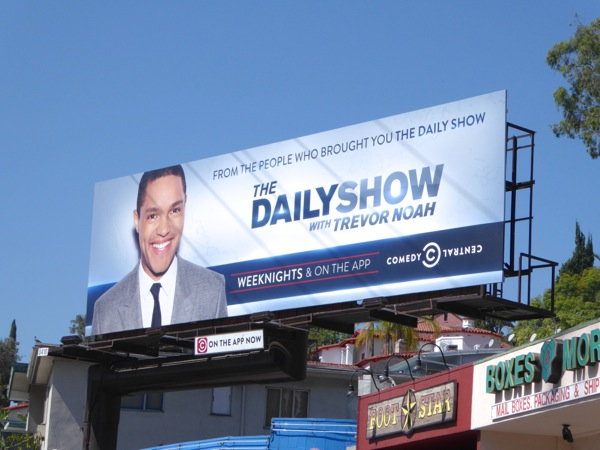 Daily Show Trevor Noah series premiere billboard