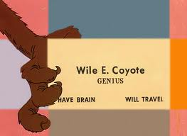 Coyote's business card