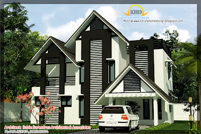 209 square meters (2250 Square Feet) Villa Elevation