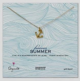 Dogeared forever summer anchor necklace