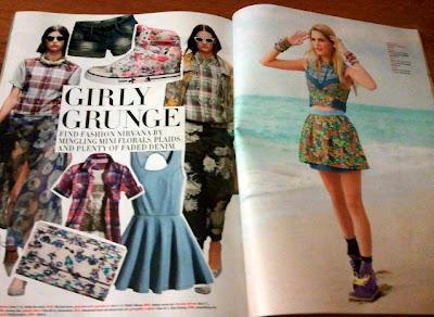 Nicholas Routzen, Seventeen, May 2013, Girly Grunge, punk, floral, Dries Van Noten, Annebet Duvall, Heather Blaine, Daniela Klein, Champagne