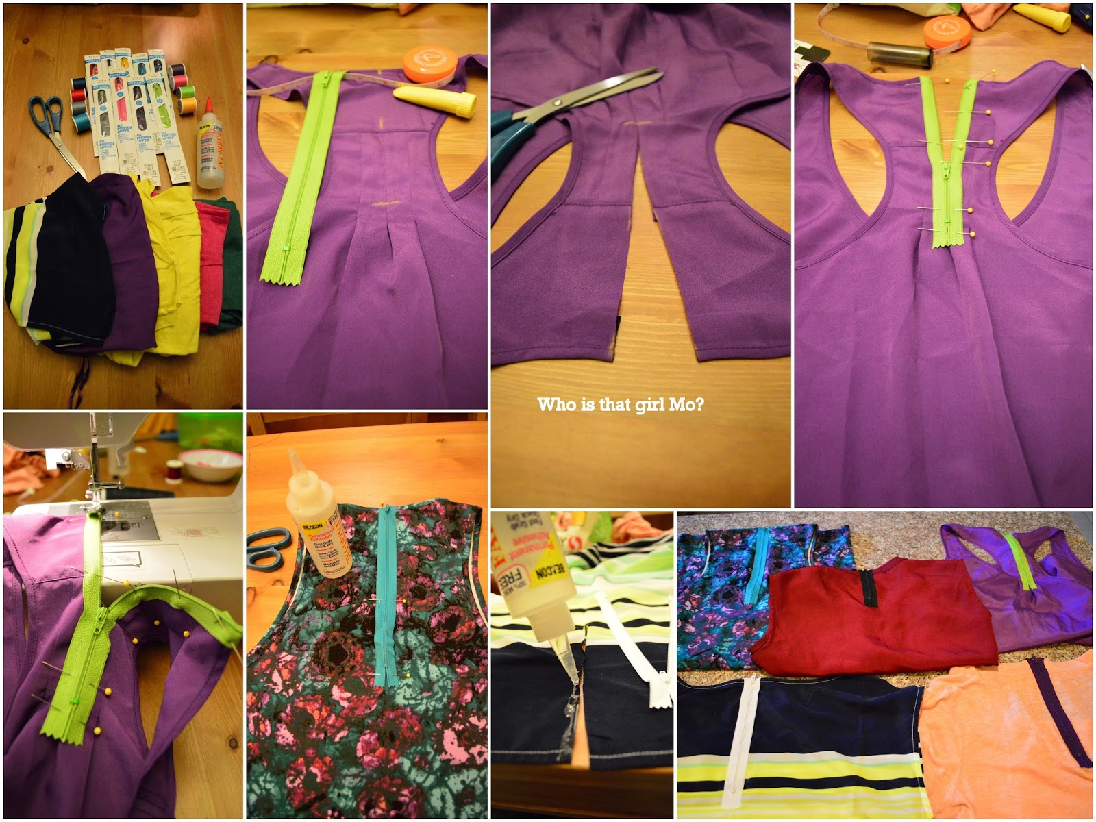 exposed zipper diy {who is that girl mo?}
