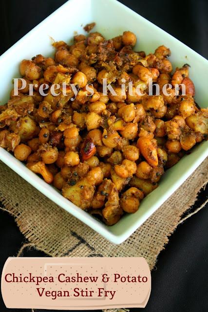 ... Cashew & Potato Vegan Stir Fry / Chole Kaju Aur Aloo Ki Sabzi