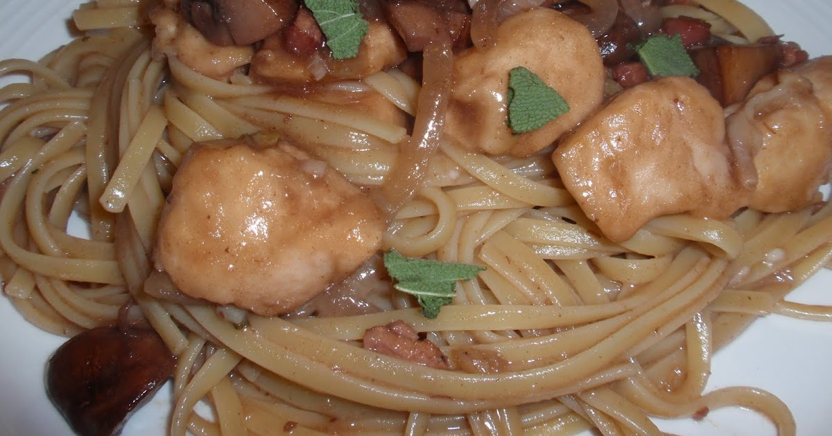 My Italian Grandmother: Linguine with Chicken, Mushrooms ...