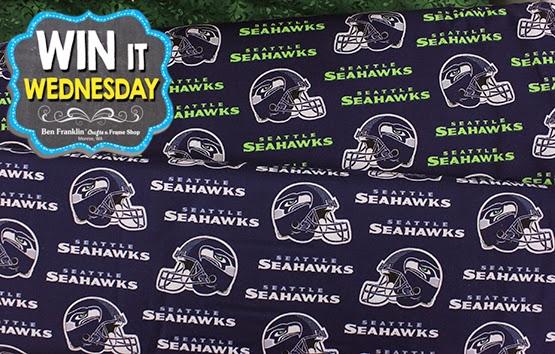 Choose between cotton or fleece Seahawks Fabric