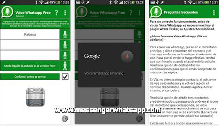 Escucha tus mensajes de WhatsApp con Voice Whatsapp free