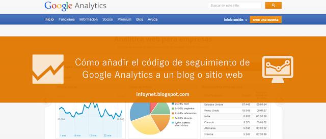 Cómo añadir el código de seguimiento de Google Analytics a un blog o sitio web