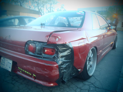 Smashed Nissan Skyline Rear end Drifting