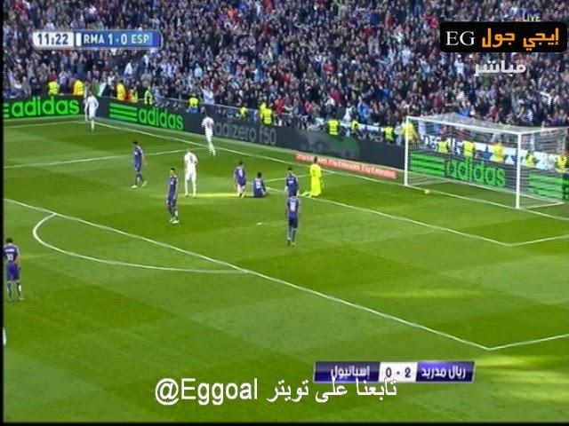 اهداف مباراة ريال مدريد و إسبانيول  3- 0 الدورى الاسبانى || 10-1-2015 ||