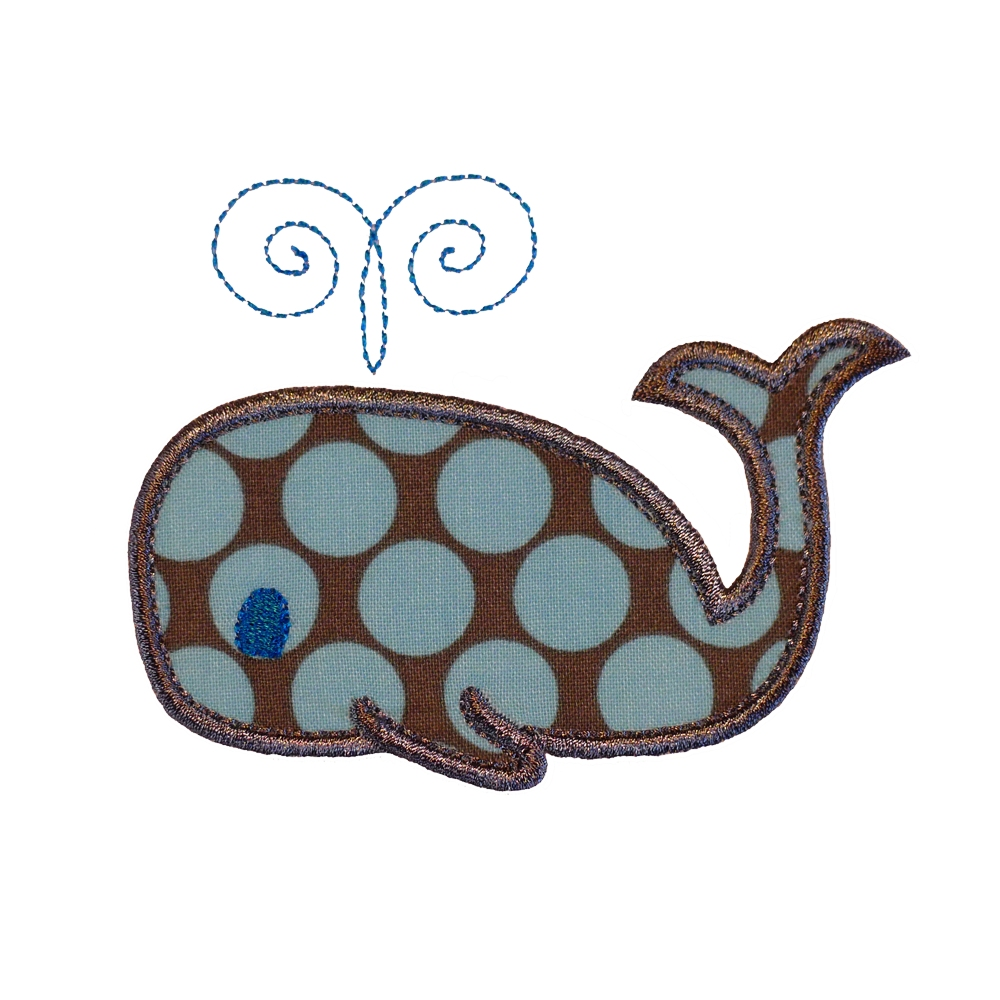 Big Dreams Embroidery: WHALE Machine Embroidery Applique Design Pattern