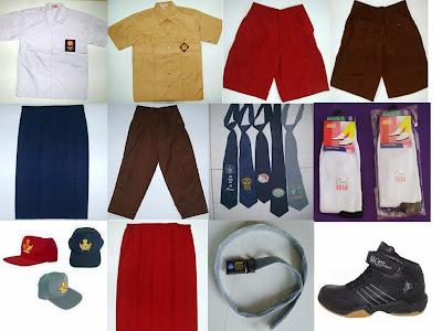 Jual 1 Set Baju Seragam Sekolah Murah
