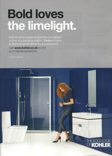 Kohler Torsion Ad styled by Jessica Moazami published in Living Etc