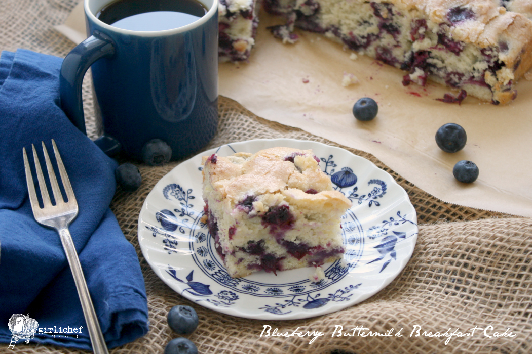 Blueberry Buttermilk Breakfast Cake - All Roads Lead to the Kitchen
