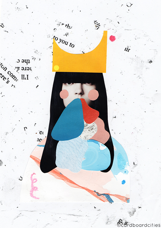 sabine collage by laura redburn