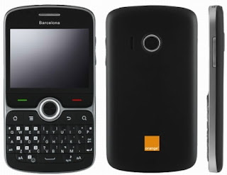Orange Barcelona QWERTY smartphone