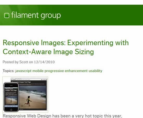 Responsive Images: Experimenting with Context-Aware Image Sizing