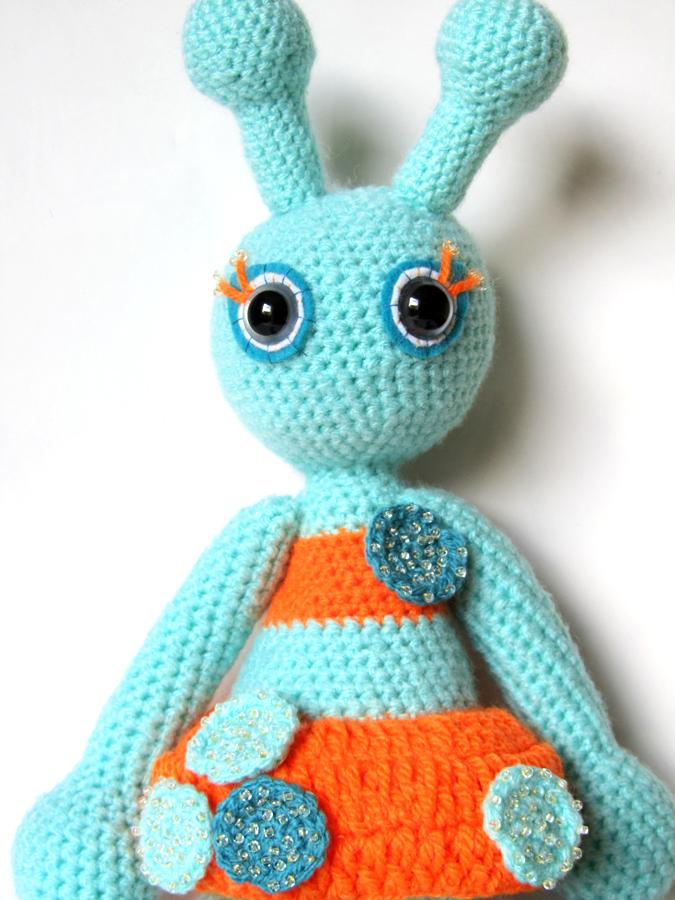 Crochet Amigurumi Alien : KooKooCraft: unique handmade fabric button earrings and ...