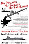 no pipelines, no tankers, no tarsands