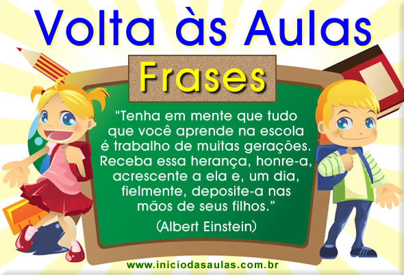 Frases De Volta As Aulas