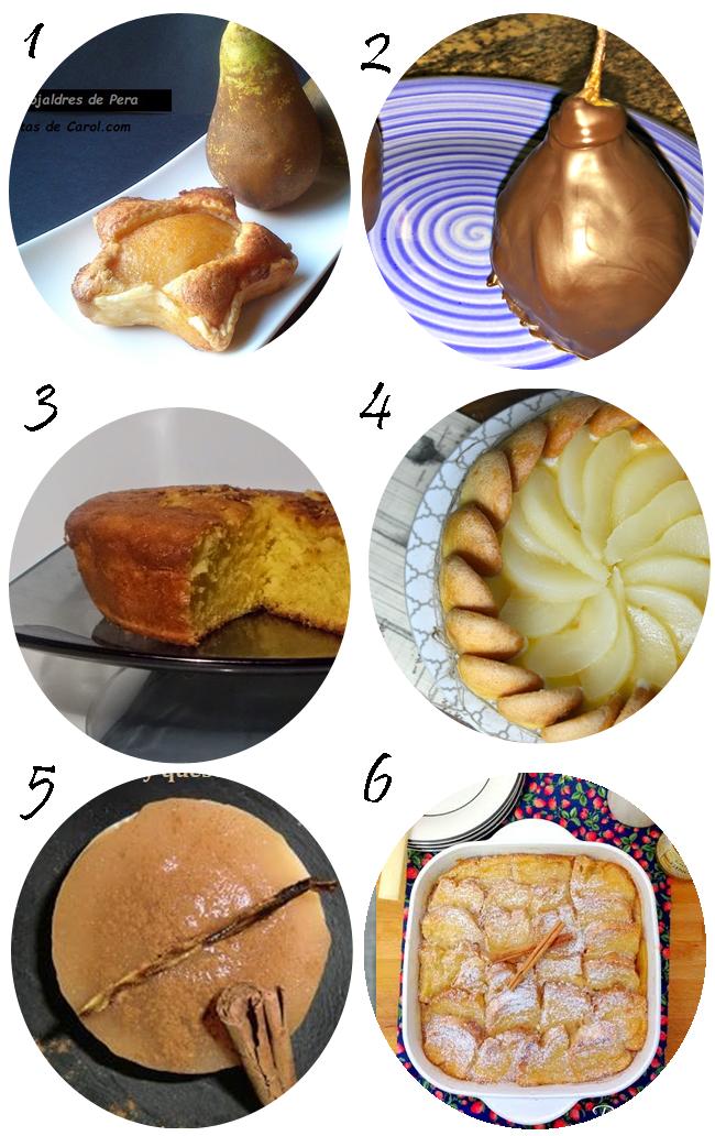 recetas con peras