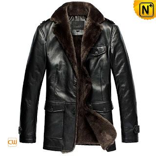 Luxurious Black Shearling Coat