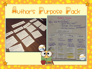 Author's Purpose - It's All About PIE - Anchor Charts by Cindy ...
