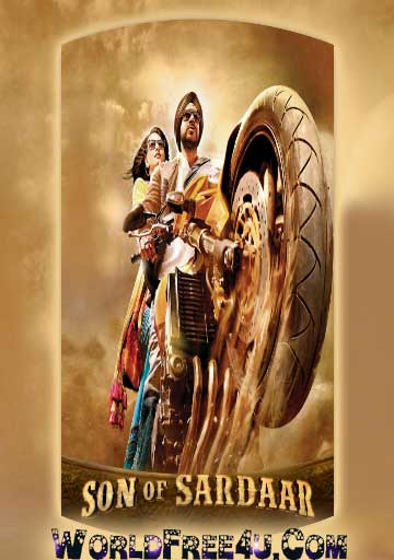 Poster Of Hindi Movie Son of Sardaar (2012) Free Download Full New Hindi Movie Watch Online At worldfree4u.com