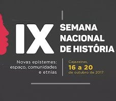 IX SEMANA NACIONAL DE HISTÓRIA. VEJA COMO PARTICIPAR