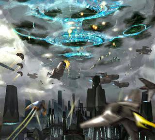 Aliens atacando a la tierra