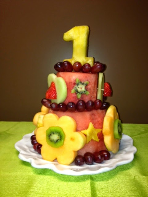 LusciousPlanet Healthy First Birthday Cake Made from Fresh Fruit