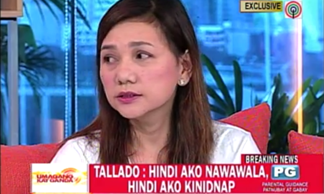 Video Interview of Camarines Norte Governor Edgardo Tallado's Wife: Alleged Scandal Photo