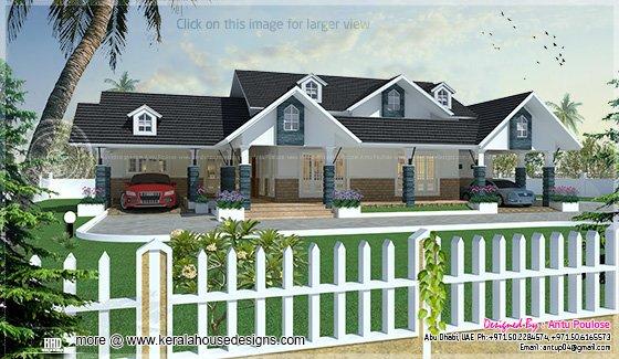 Single storied villa