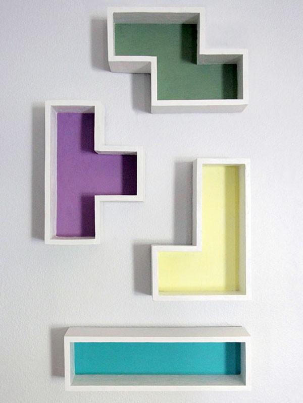 Haz una repisa de madera estilo tetris lodijoella for Decoracion en mdf para pared
