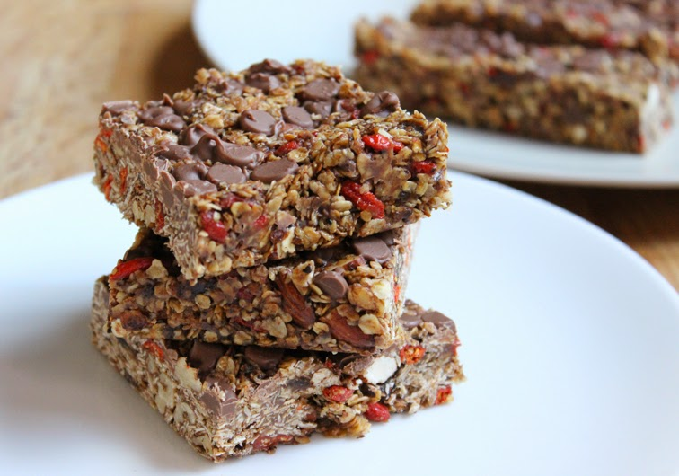Chewy Chocolate Chip Granola Bars with Goji Berries - A ...