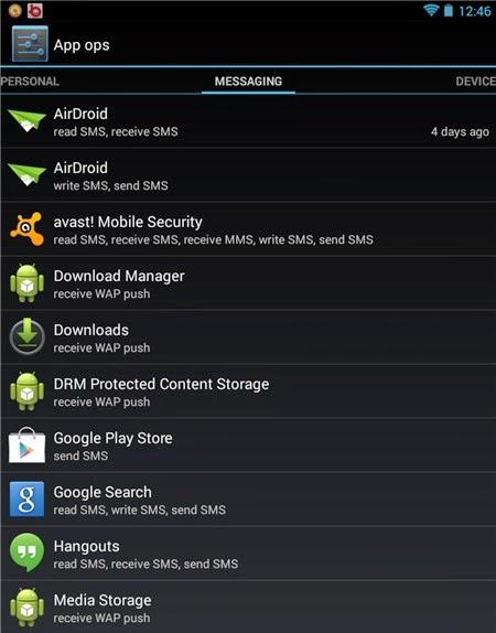 Thủ thuật Android 4.3 - Khui tính năng ẩn App ops