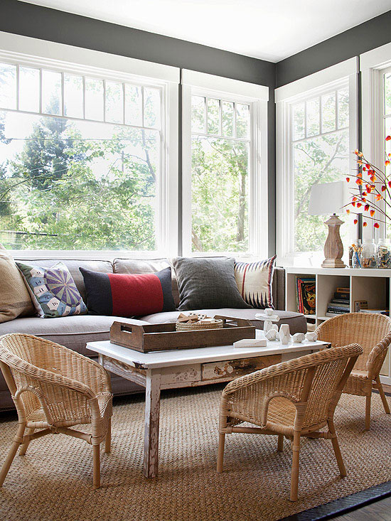 Modern Furniture: 2014 Country Living Room Decorating Ideas from BHG